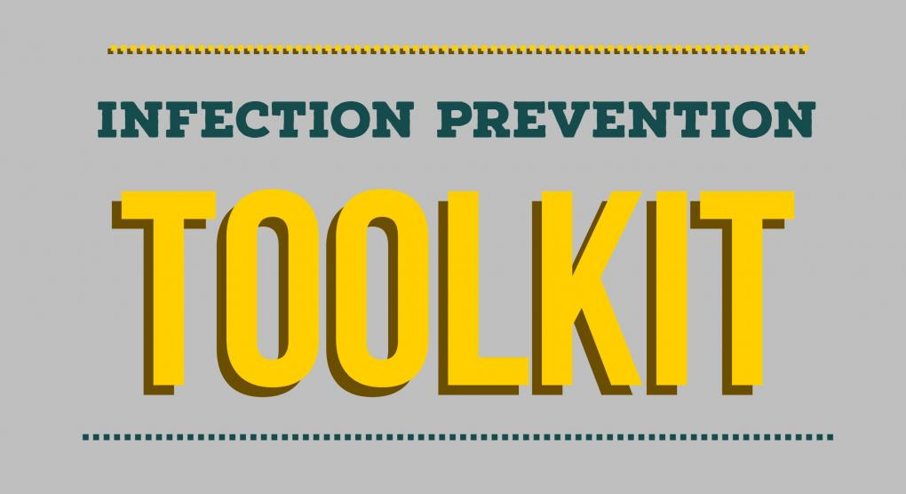image infection prevention toolkit typography